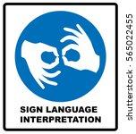 sign language interpreting... | Shutterstock .eps vector #565022455