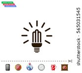 lamp bulb vector flat icon with ... | Shutterstock .eps vector #565031545