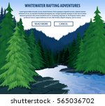 Vector Whitewater Rafting...