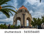 the monument to the revolution... | Shutterstock . vector #565056685
