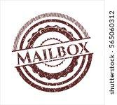 red mailbox distress grunge...   Shutterstock .eps vector #565060312