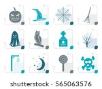 stylized halloween icon pack ...