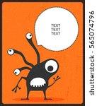 funny black monster with...   Shutterstock .eps vector #565074796