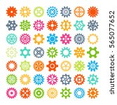 gear icons isolated vector...