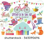 spring is in the air  ... | Shutterstock .eps vector #565090696