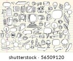 notebook doodle speech bubble... | Shutterstock .eps vector #56509120