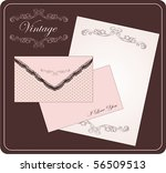vintage envelope with letter   Shutterstock .eps vector #56509513