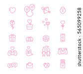 valentine day vector cute line... | Shutterstock .eps vector #565099258