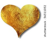 Bronze Abstract Heart Isolated...