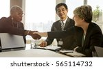 hands shake agreement diversity ... | Shutterstock . vector #565114732