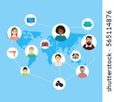 sharing economy and smart... | Shutterstock .eps vector #565114876