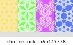 set of seamless lace floral...   Shutterstock .eps vector #565119778