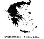 vector map greece country on... | Shutterstock .eps vector #565121362