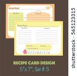 decorative recipe cards set ... | Shutterstock .eps vector #565123315