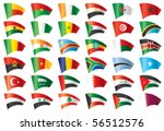 moving flags set   africa  ... | Shutterstock .eps vector #56512576