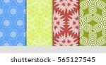 set of modern decorative floral ...   Shutterstock .eps vector #565127545