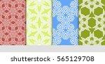 set of modern decorative floral ...   Shutterstock .eps vector #565129708