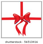 ribbon on template | Shutterstock .eps vector #56513416