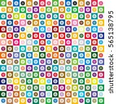 gear image vivid color tile  ... | Shutterstock .eps vector #565138795