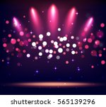 illuminated stand stage scene... | Shutterstock .eps vector #565139296