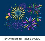 festive firework salute burst... | Shutterstock .eps vector #565139302