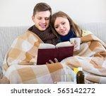young spouses having flue... | Shutterstock . vector #565142272