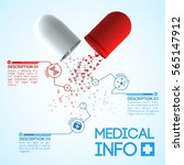 medicine and pharmaceutics info ... | Shutterstock .eps vector #565147912