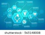 medical blue background poster... | Shutterstock .eps vector #565148008