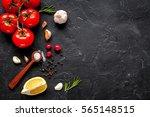 concept cook work on dark...   Shutterstock . vector #565148515