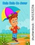rain rain go away  kids english ... | Shutterstock .eps vector #565152256
