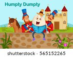 humpty dumpty kids english... | Shutterstock .eps vector #565152265