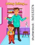 jhony jhony yes papa kids...   Shutterstock .eps vector #565152376