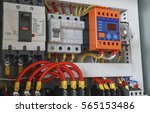 close up electrical wiring with ...