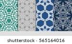 set of seamless vector patterns.... | Shutterstock .eps vector #565164016