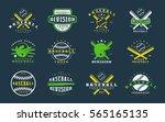 set of baseball emblems.... | Shutterstock .eps vector #565165135