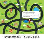 road and map infographic... | Shutterstock .eps vector #565171516