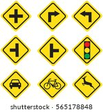 traffic sign yellow | Shutterstock .eps vector #565178848
