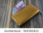 Leather Men's Open Wallet With...