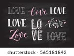 hand drawn love as valentines... | Shutterstock .eps vector #565181842