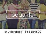 super women happiness... | Shutterstock . vector #565184602