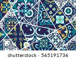 vector decorative background.... | Shutterstock .eps vector #565191736