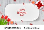 greeting web banner for women's ... | Shutterstock .eps vector #565196512