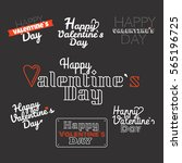 happy valentines day wishes... | Shutterstock .eps vector #565196725