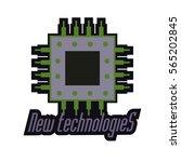 logo team new technologies | Shutterstock .eps vector #565202845