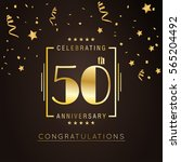 50th anniversary logo with... | Shutterstock .eps vector #565204492