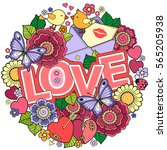 vector greeting card for lovers ...   Shutterstock .eps vector #565205938