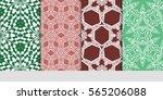 set of seamless vector patterns....   Shutterstock .eps vector #565206088