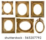 collection of wooden frames... | Shutterstock . vector #565207792
