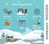 vector concept of winter... | Shutterstock .eps vector #565210342