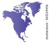 north america map | Shutterstock .eps vector #565219456